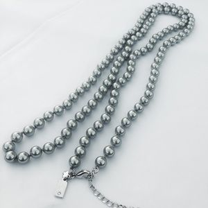 NWOT Kate Spade Gray Pearl Long Necklace